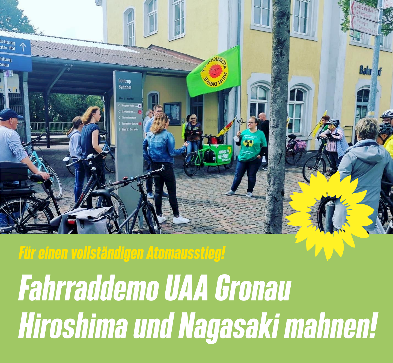 Fahrraddemo zur Urananreicherungsanlage in Gronau