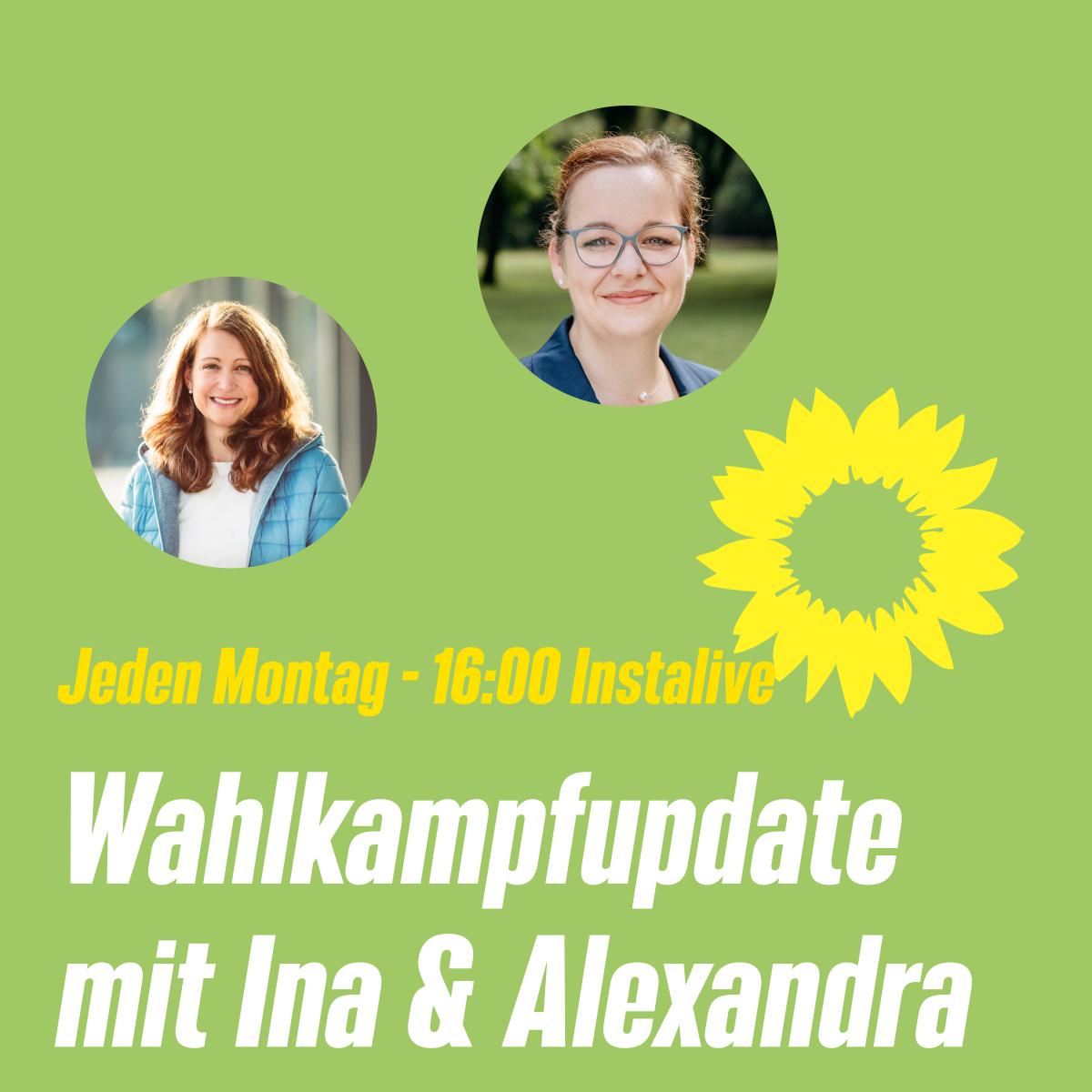 Neues Format – Wahlkampfupdate mit Ina und Alexandra